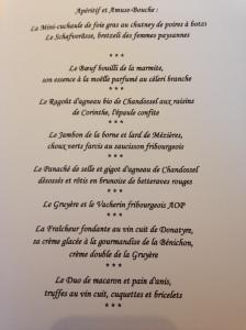 Menu Bénichon 2015, Le Pérolles, Pierrot Ayer